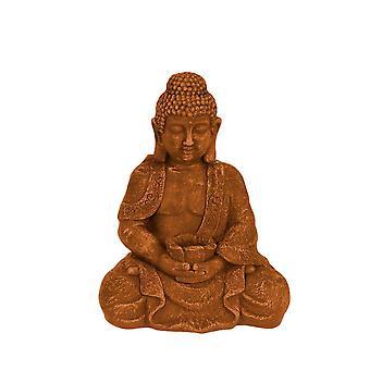 Buddha sittande rostfärgad 42 cm