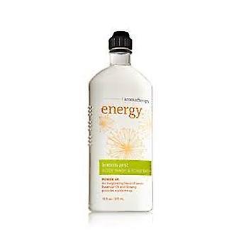 Baie & Body Works Aromatherapy Body Wash & Foam Bath Energy Lemon Zest 10 oz / 295 ml (Pachet de 2)