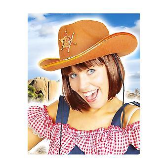 Sombreros sombrero de vaquero marrón