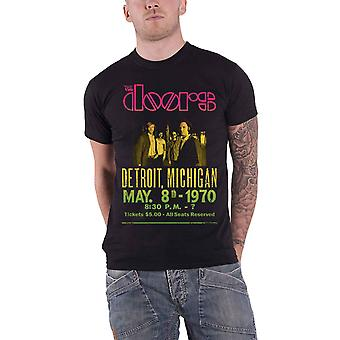 The Doors T Shirt Gradient Show Poster band logo new Official Mens Black
