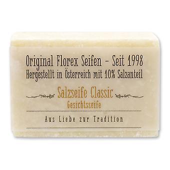 Salz-Seife Classic 10% Salzanteil speziell für die Gesichtsreinigung Feuchtigkeitsregulierend für beanspruchte empfindliche Haut