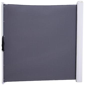 PawHut Retractable Safety Gate Dog Pet Barrier Folding Protector Home Doorway Room Divider Stair Guard Grey 115L x 82.5H cm