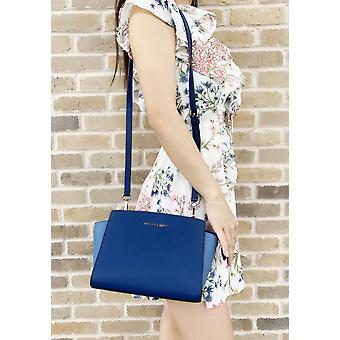 Michael kors selma medium messenger bag crossbody sapphire blue