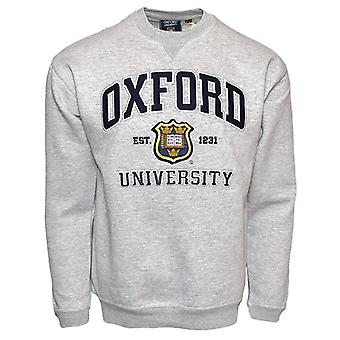 Ou201 unisex licensed oxford university™ sweatshirt sports grey