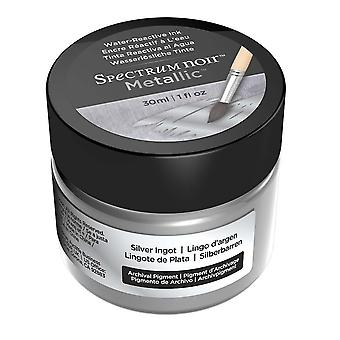 Spectrum Noir metallic vloeibare inkt 30ml-zilver ingots