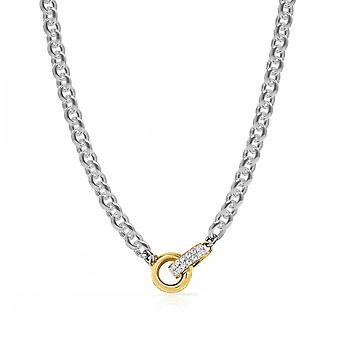 Guess Jewellery Guess 16-18 Inch Big Chain Gold Embracing Rings Necklace UBN78062