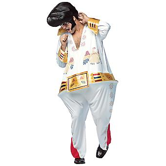 The King Hoopster Elvis Rock N Roll 1950s Grease Las Vegas Adulte Homme Costume OS