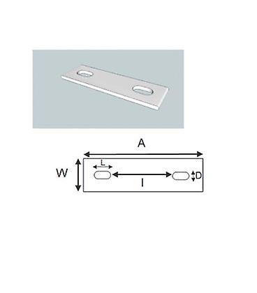 Slotted Backing Plate For M8 U-bolt (22 - 36 Mm Id) Galvanised Mild Steel
