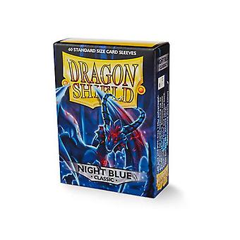 Dragon Shield 60ct Pack klassisk nat blå (pakke med 10)