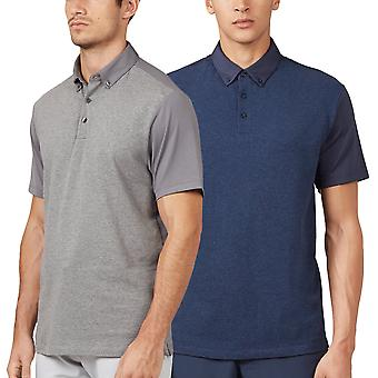 Wolsey mens Pique-Jersey mix Quick dry stretch Golf Polo shirt