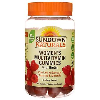 Sundown naturals women's multivitamin with biotin, gummies, 60 ea