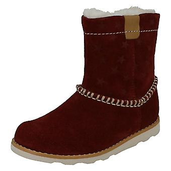 Girls Clarks Casual Warmlined Boots Crown Piper