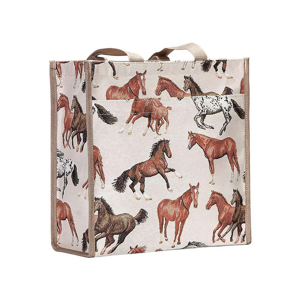 Running horse reusable shopper bag by signare tapestry / shop-rhor