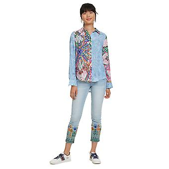 Desigual Women's Clarie Contrast Abstract Pattern Shirt
