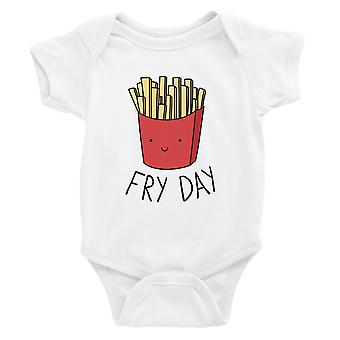 365 Printing Fry Day Baby Bodysuit Gift White Funny Baby Jumpsuit Baby Shower
