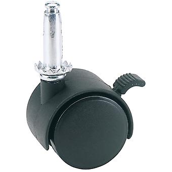 40mm dia. nylon Castor met rem-S. W. L 25Kg-60140LB