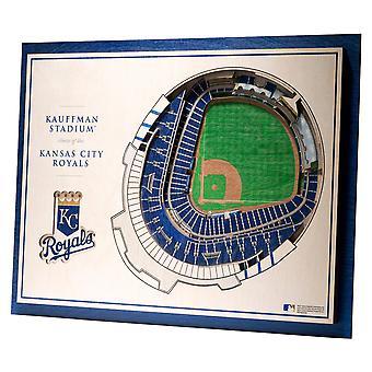 YouTheFan lemn decorare perete stadion Kansas City Royals 43x33cm