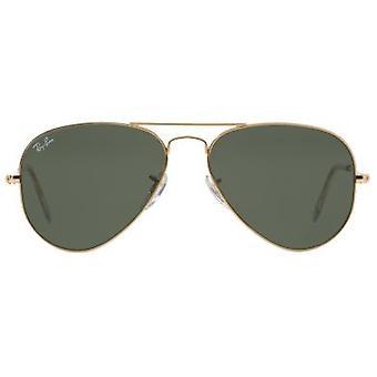 Ray Ban Sunglasses Aviator Gold Green (Optic , Sunglasses , Standard sunglasses)