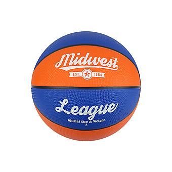 Midwest League Outdoor Recreational Mini Rubber Basketball Ball Bleu/Orange