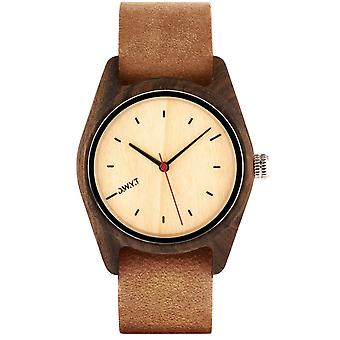 Watch D.W.Y.T DW-00105-5020 - Sequoia Wood Leather Brown woman