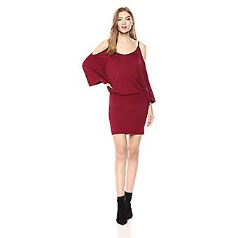 Lyss Loo Women's Game Changer Cold Shoulder Body-Con, Burgundy, Size X-Large