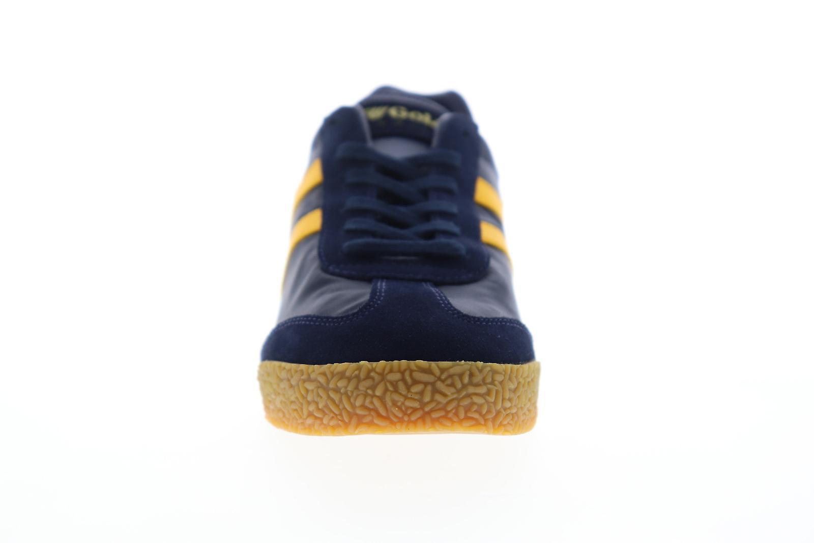 Gola Harrier Nylon Mens Blue Lace Up Low Top Sneakers Schoenen - Gratis verzending z82qpj
