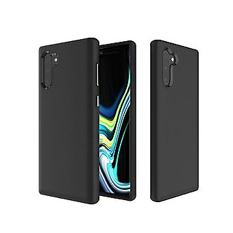 Hard Case Anti-slip Armor Texture TPU + PC Case For Galaxy Note10+, Black