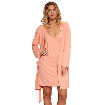LingaDore 5422-123 Women's Kiri Apricot Orange Loungewear Kimono