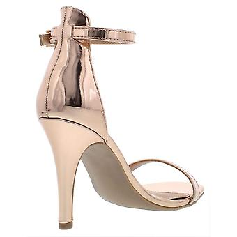 Material Girl Womens Blaire5 Suede Peep Toe Casual Ankle Strap Sandales