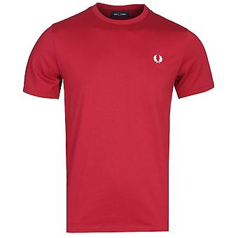 Fred Perry Rosso rot Ringer T-Shirt