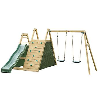 Plum Climbing Pyramid Wooden Climbing Frame with Swing and Slide Set