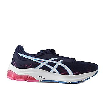 Asics Gel- Pulse 11 Navy Peacoat/White Mesh Womens Lace Up Running Trainers