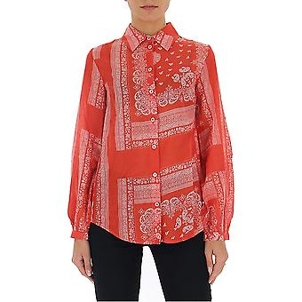 Semi-couture Y0ss04fan20 Women's Red Polyester Shirt