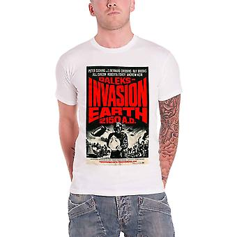 Dalek Invasion Earth T Shirt White Studiocanal Vintage Movie Official Mens