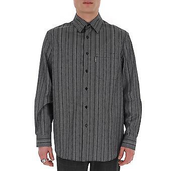Versace A86004a233925a7008 Men's Grey Cotton Shirt