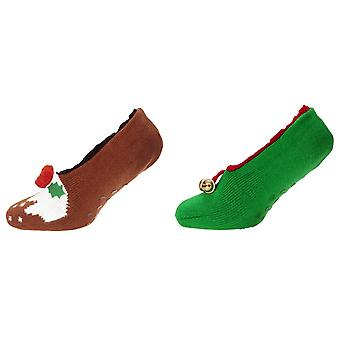 Brave Soul Womens/Ladies Christmas Slipper Socks (1 Pair)