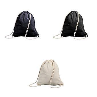 Shugon Stafford Cotton Drawstring Tote Backpack Bag - 13 Litres (Pack of 2)