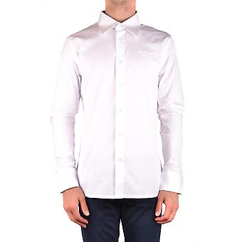 Bikkembergs Ezbc101075 Men's White Cotton Shirt