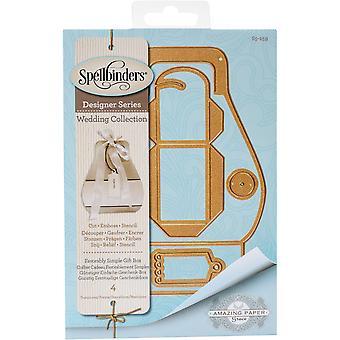Spellbinders leikkaa kuolee - Suotuisasti yksinkertainen lahjalaatikko
