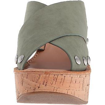 Chinese Laundry Women's Oahu Micro Suede Wedge Sandal, Basil Suede, 6.5 M US
