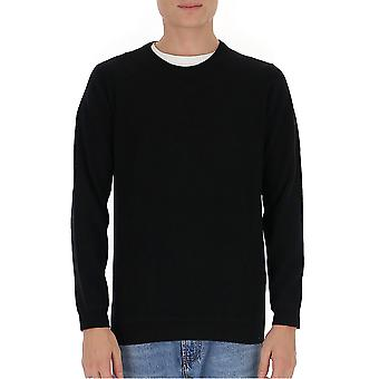 Laneus K2153cc11nero Men's Black Wool Sweater