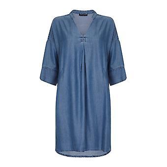 Vestido de camisa de índigo VIZ-A-VIZ