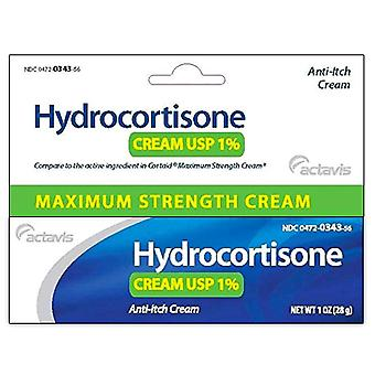 Actavis hydrocortisone cream, 1%, anti-itch, maximum strength, 1 oz