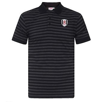 Fulham FC Official Football Gift Mens Yarn Dye Marl Striped Polo Shirt