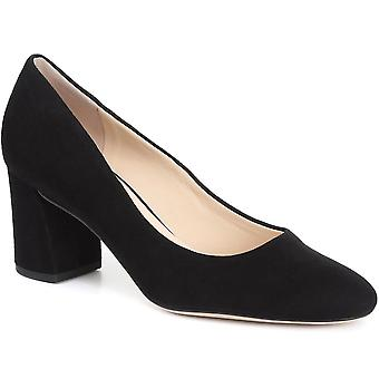Hogl Womens Block Heel Leather Court Shoe