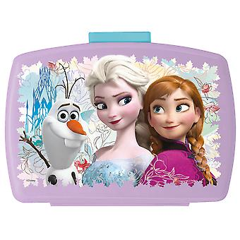 FROZEN children's bread tin with insert made of plastic purple turquoise