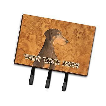 Sjokolade naturlig Eared Doberman tørk dine Paws leiekontrakten eller nøkkelen holderen