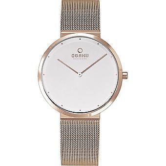 OBAKU - Wristwatch - UNISEX - V230LXVWMV - PAPIR LILLE ROSE