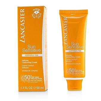 Sol følsom delikat trøstende creme Spf50 +-lysende Tan-50ml/1.7 Oz