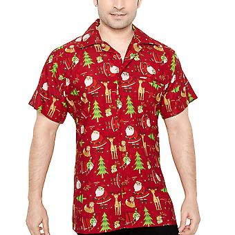 Club cubana men's regular fit classic short sleeve casual shirt ccx52